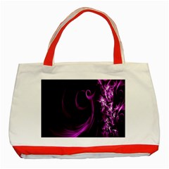 Purple Flower Floral Classic Tote Bag (red)