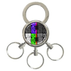 Repeated Tapestry Pattern 3 Ring Key Chains by Nexatart