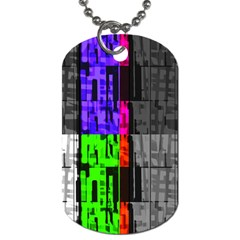 Repeated Tapestry Pattern Dog Tag (two Sides) by Nexatart