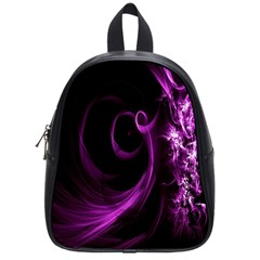 Purple Flower Floral School Bags (small)