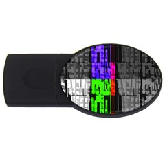 Repeated Tapestry Pattern Usb Flash Drive Oval (4 Gb) by Nexatart