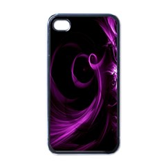Purple Flower Floral Apple Iphone 4 Case (black)