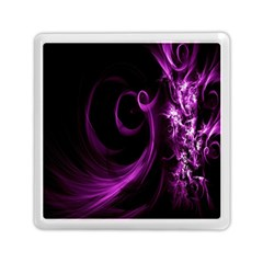 Purple Flower Floral Memory Card Reader (square)