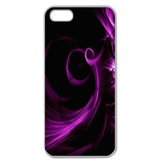 Purple Flower Floral Apple Seamless Iphone 5 Case (clear) by Mariart