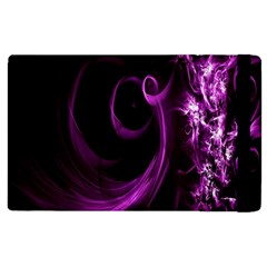 Purple Flower Floral Apple Ipad 3/4 Flip Case
