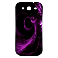 Purple Flower Floral Samsung Galaxy S3 S Iii Classic Hardshell Back Case