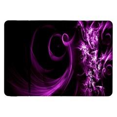 Purple Flower Floral Samsung Galaxy Tab 8 9  P7300 Flip Case