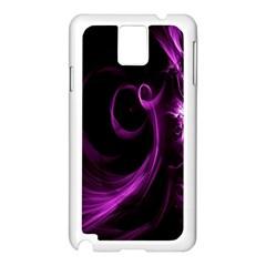 Purple Flower Floral Samsung Galaxy Note 3 N9005 Case (white)