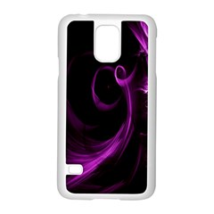 Purple Flower Floral Samsung Galaxy S5 Case (white)