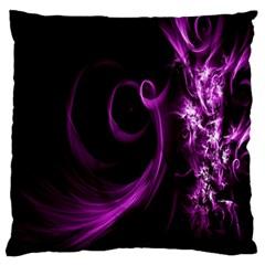 Purple Flower Floral Standard Flano Cushion Case (one Side)