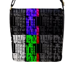 Repeated Tapestry Pattern Flap Messenger Bag (l)