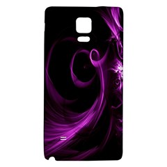 Purple Flower Floral Galaxy Note 4 Back Case