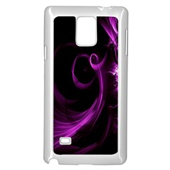 Purple Flower Floral Samsung Galaxy Note 4 Case (white)