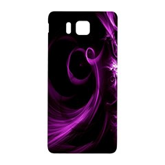 Purple Flower Floral Samsung Galaxy Alpha Hardshell Back Case