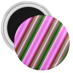 Pink And Green Abstract Pattern Background 3  Magnets by Nexatart