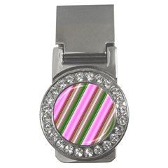 Pink And Green Abstract Pattern Background Money Clips (cz)  by Nexatart