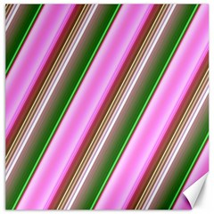 Pink And Green Abstract Pattern Background Canvas 16  X 16   by Nexatart