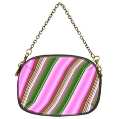 Pink And Green Abstract Pattern Background Chain Purses (one Side)  by Nexatart