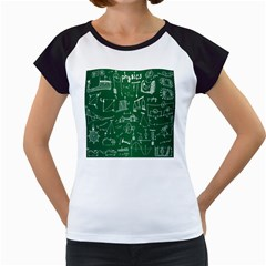Scientific Formulas Board Green Women s Cap Sleeve T