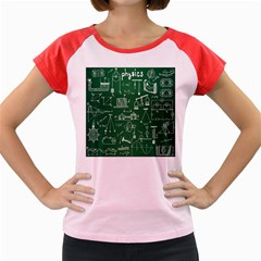 Scientific Formulas Board Green Women s Cap Sleeve T Shirt