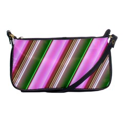 Pink And Green Abstract Pattern Background Shoulder Clutch Bags by Nexatart