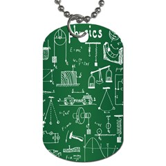 Scientific Formulas Board Green Dog Tag (one Side) by Mariart