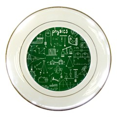 Scientific Formulas Board Green Porcelain Plates by Mariart