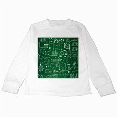 Scientific Formulas Board Green Kids Long Sleeve T Shirts by Mariart