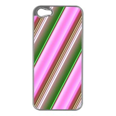 Pink And Green Abstract Pattern Background Apple Iphone 5 Case (silver)