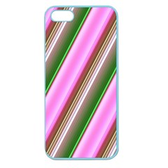 Pink And Green Abstract Pattern Background Apple Seamless Iphone 5 Case (color) by Nexatart