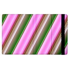 Pink And Green Abstract Pattern Background Apple Ipad 2 Flip Case by Nexatart