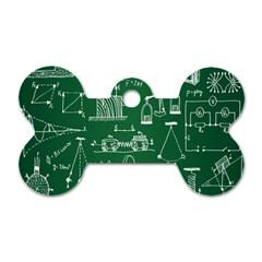 Scientific Formulas Board Green Dog Tag Bone (one Side)