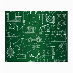 Scientific Formulas Board Green Small Glasses Cloth (2 Side) by Mariart