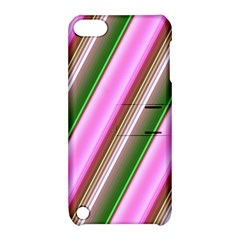 Pink And Green Abstract Pattern Background Apple Ipod Touch 5 Hardshell Case With Stand