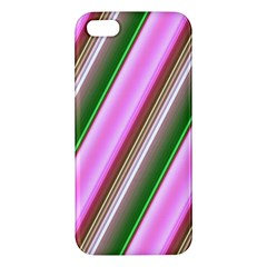 Pink And Green Abstract Pattern Background Apple Iphone 5 Premium Hardshell Case
