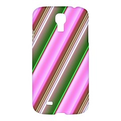 Pink And Green Abstract Pattern Background Samsung Galaxy S4 I9500/i9505 Hardshell Case by Nexatart