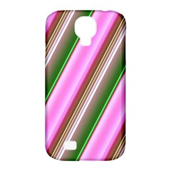Pink And Green Abstract Pattern Background Samsung Galaxy S4 Classic Hardshell Case (pc+silicone)