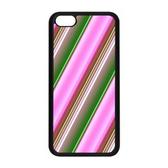 Pink And Green Abstract Pattern Background Apple Iphone 5c Seamless Case (black) by Nexatart