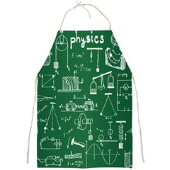 Scientific Formulas Board Green Full Print Aprons by Mariart