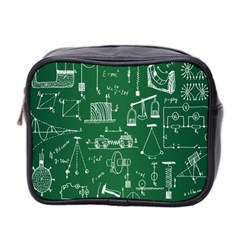 Scientific Formulas Board Green Mini Toiletries Bag 2 Side by Mariart