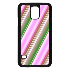 Pink And Green Abstract Pattern Background Samsung Galaxy S5 Case (black)