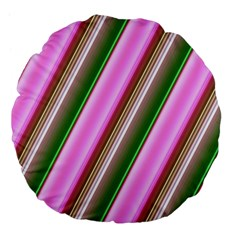 Pink And Green Abstract Pattern Background Large 18  Premium Flano Round Cushions by Nexatart
