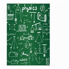 Scientific Formulas Board Green Small Garden Flag (two Sides)