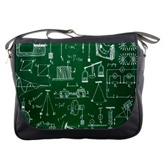 Scientific Formulas Board Green Messenger Bags