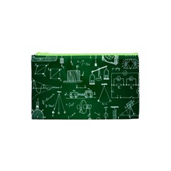 Scientific Formulas Board Green Cosmetic Bag (xs) by Mariart
