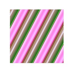 Pink And Green Abstract Pattern Background Small Satin Scarf (square)