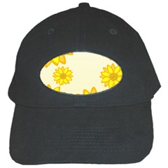 Sunflowers Flower Floral Yellow Black Cap by Mariart