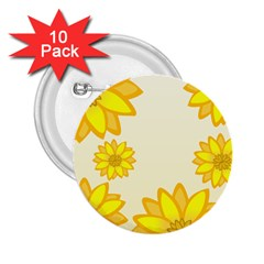 Sunflowers Flower Floral Yellow 2 25  Buttons (10 Pack)  by Mariart
