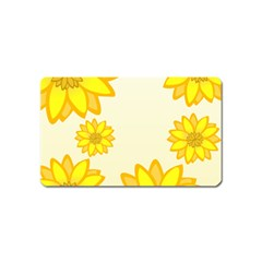 Sunflowers Flower Floral Yellow Magnet (name Card) by Mariart