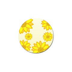 Sunflowers Flower Floral Yellow Golf Ball Marker by Mariart